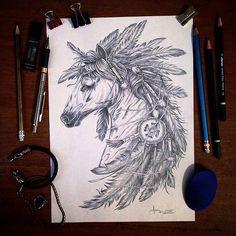 #horse #pic #design #drawing #pencilling #handmade #sketch #indian #wild #head #vsco #art #inspiration