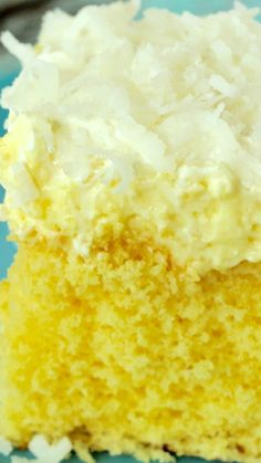 Hawaiian Wedding Cake ~ It is light and refreshing... like a piña colada in a cake!