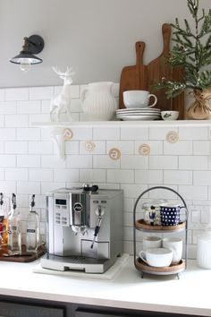 Holiday Coffee Station - The Inspired Room Kitchen - Christmas House Tour