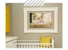 Really cool idea: float a canvas wrap inside a larger frame.  What a neat way to incorporate a one of a kind frame in a display - be on the look out at garage sales & antique stores. #displayit  #baleeimages