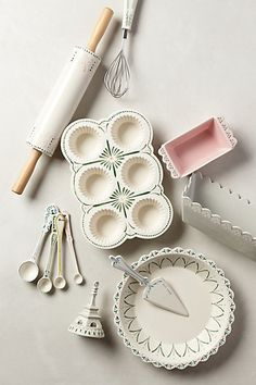 This may be the prettiest baking set I've ever seen, Maelle Measuring Spoons - anthropologie.com