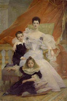 Guillaume Dubufe, Potrait de Madame de Beauchamp et de ses enfants (1895).