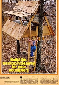 Oh. how amazing is this? What kid wouldn't want to go outside with a treehouse like this one?