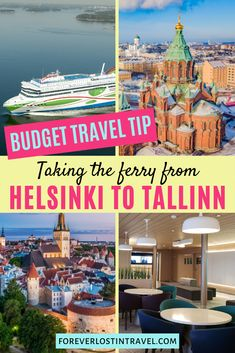 Tallinn and Helsinki are a short ferry ride away from each other. Extend your European trip and add another country to your list with this easy guide. For budget travel this is one of the best options. Learn more about taking the ferry from Helisinki to Tallinn today #helsinki #tallinn #budgettravel #europetravel #europeonabudget #transportation #europetransport #foreverlostintravel Europe On A Budget, Europe Travel Guide, Budget Travel, Travel Hacks, Travel Guides, Cruise Port, Cruise Vacation, European Destination, European Travel