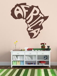 Housewares Vinyl Decal Stylized Africa Map Home Wall Art Decor Removable Stylish Sticker Mural Unique Design for Any Room *** Read more  at the image link. (This is an affiliate link and I receive a commission for the sales)