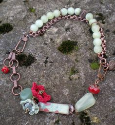 """Limeade With A Twist Of Raspberry necklace by jettabugjewelry, $48.00 17"""" to 15"""" choker or 2 bracelets"""