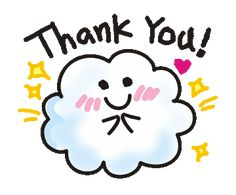 LINE 크리에이터스 스티커 - Animations of a cute cloud. Example with GIF Animation Thank You Qoutes, Thank You Messages Gratitude, Thank You Gifs, Thank You Wishes, Thank You Images, Gif For Powerpoint, Background Powerpoint, Welcome Pictures, Welcome Images