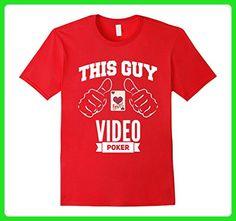 Mens Video Poker Player Men's Gambling Card Game T-Shirt Medium Red - Gamer shirts (*Amazon Partner-Link)