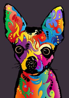 """Trademark Art """"Chihuahua Dog White"""" by Michael Tompsett Graphic Art on Wrapped Canvas Size: Arte Pop, Grey Canvas Art, Canvas Size, Grey Art, Chihuahua Art, Canvas Prints, Art Prints, Artist Canvas, Dog Art"""