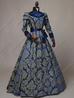 a2afcee04b Victorian Regal Winter Queen Holiday Brocade Game of Thrones Ball Gown  Theater Clothing Victorian Fashion