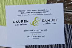 Wedding Invitations  Lauren by TwoSistersOriginals on Etsy, $40.00