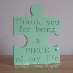 Freestanding Engraved Puzzle Piece