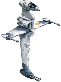 B-Wing fighter from Star Wars.