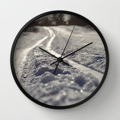 Skispor Wall Clock by lisnas Wall Clock Frame, Unique Wall Clocks, Crystals, Store, Storage, Crystals Minerals, Shop, Crystal
