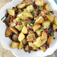 Roasted Red Potatoes with Bacon, Garlic & Parmesan Recipe | Key Ingredient