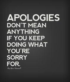 U said sorry how many times? Ur so fake...