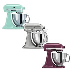 This attractively styled KitchenAid Stand Mixer is reason enough for you to get busy in the kitchen. With a powerful 325 watt motor, it can handle any task you put to it.
