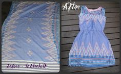 Recycled Fashion: DIY Ikat Tablecloth Dress
