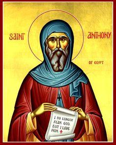 IcCSAnth - St. Anthony of Egypt Orthodox Icon Cross Stitch Pattern