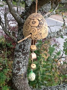 Gartendekoration - Vogelfutterstelle XL - ein Designerstück von Bodenseekeramik bei DaWanda Designer, Ceiling Lights, Etsy, Lighting, Pendant, Home Decor, Decoration Home, Room Decor, Hang Tags