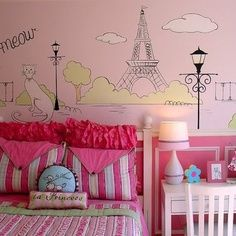 Etonnant Little Girls Paris Inspired Bedrooms | Paris Girls Room Design, Pictures,  Remodel, Decor