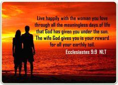 Ecclesiastes 9:9 Ecclesiastes 9, Marriage Bible Verses, A Day In Life, Spiritual Growth, Texts, Spirituality, Bible Verses About Marriage, Texting, Text Messages