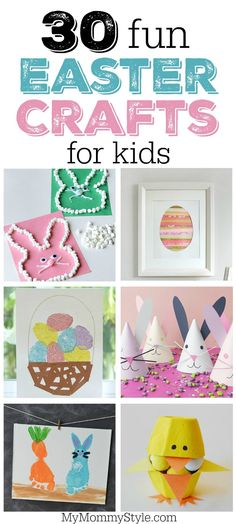 30 fun and festive Easter crafts for preschoolers or early elementary aged kids. If you're looking for Easter bunny, chicks, or Easter eggs look no further.