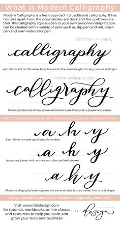 What is Modern Calligraphy — Nicki Traikos Creative Class, Creative Skills, Calligraphy Fonts Alphabet, Typography, Calligraphy Practice, Modern Caligraphy, Beautiful Lettering, Brush Lettering, Creative Lettering