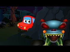 Little Red Car And The Haunted House Monster Truck | Scary Monster Truck - YouTube