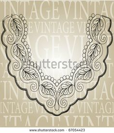 Vintage embroidery design by desigraphicrb, via Shutterstock