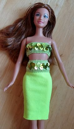 Happier Than A Pig In Mud: Barbie Bathing Suit and Dress from Headbands-Tutorial