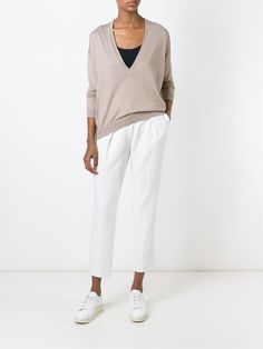 Shop Brunello Cucinelli V-neck sweater in Coso from the world's best independent boutiques at farfetch.com. Shop 300 boutiques at one address.
