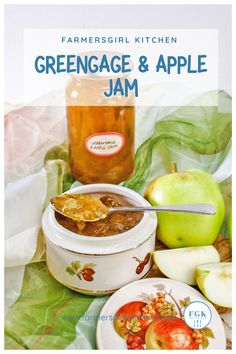 Greengage and Apple Jam is simple to make and a delight to eat. Serve the jam spread on bread, toast or scones. Use it to fill a cake or include it in a yogurt dessert, there are so many ways to eat this jam #greengages #apple #jam #easy #jelly Easy Summer Meals, Summer Recipes, Easy Meals, Easy Jam Recipe, Ginger Jam, Yogurt Dessert, Apple Jam, Bread Toast, Eating Raw
