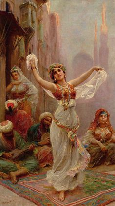 Fabio Fabbi (Italian Painter , 1861-1946)  -  The Dancer