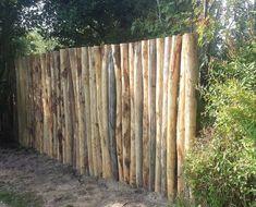 Round wood pole fence Source by ibrunekreeft