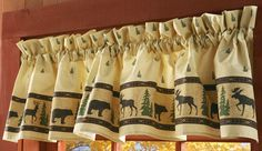 Bear, Moose, and Evergreen Woodland Curtain Valance In Our Catalog: Woodland Silhouettes Valance Availability: In Stock Item #23495 $9.99