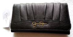 Jessica Simpson Black Wallet Patty Trifold NWT New Womens