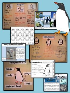 Penguins: Informational Unit for Primary Grades– Informative Slideshow, Anchor Charts, Writing Materials, and Printables! $ #kindergarten #firstgrade