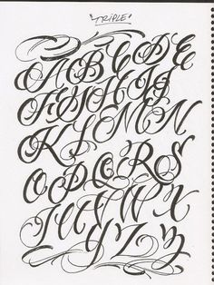 Letras Para Tatuajes Cursiva Abecedario 1 Letras Pinterest
