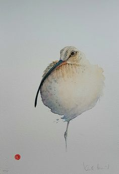Karl Martens Born 1956 Curlew Signed lower right Karl Martens Lithograph 18 x 12 Limited Edition print numbered Watercolor Paintings Of Animals, Abstract Watercolor, Animal Paintings, Watercolor And Ink, Painting & Drawing, Art Aquarelle, Watercolor Projects, Bird Drawings, Wildlife Art