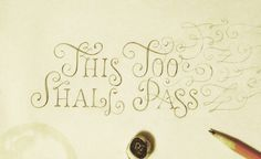 Really like this hand-drawn lettering #lettering #typography #handdrawn