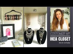 Organizing Clutter- Cute Easy Storage Ideas - Published on Feb 13, 2016 Organizing Clutter- Cute Easy Storage Ideas  How to store jewelry, sunglasses, bags and belts. How to make any picture look like framed art! DIY hack of mine:) This is just a start as I am finally tackling my office/closet room. I am a huge clutter bug. Guilty of having stuff everywhere and anywhere. When you don't know where to start, just start. This is my attempt to get organized! Feature in this video is my Ikea buil