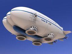 Future Aviation, Futuristic Airship, Lockheed Martin P-791, aerostat, hovercraft, gasbag, concept, future flying vehicle, prototype