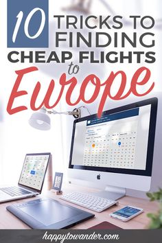 Learn how to find cheap flights to Europe with these ten easy tricks and hacks! This is a must-read for anybody wanting to learn how to travel cheap from Canada, from the USA, etc. to European destinations. If you want to learn how to book plane tickets for cheap, read this. #travel #europe
