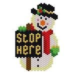 ThreadABead Snowman Stop Here Pattern