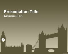 London PowerPoint template, #free PPT template background #London travel #presentations