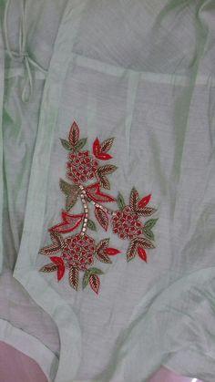 Order contact my WhatsApp number 7874133176 Zardosi Embroidery, Embroidery On Kurtis, Hand Embroidery Dress, Kurti Embroidery Design, Embroidery On Clothes, Couture Embroidery, Simple Embroidery, Floral Embroidery, Beaded Embroidery