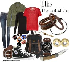 """Ellie (The Last of Us)"" by a-fangirl-clad-in-plaid on Polyvore"