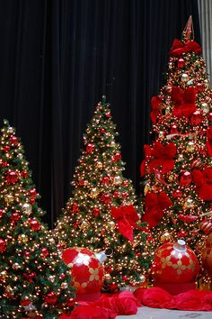 Christmas Trees at Chicago's Union Station Christmas In America, Merry Christmas To All, Noel Christmas, All Things Christmas, Winter Christmas, Christmas Lights, Xmas Tree, Christmas Tree Decorations, Beautiful Christmas Trees