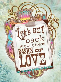 BASICS of LOVE junk gypsy design on a CANVAs art print  - Junk GYpSy co. #willienelson #waylonjennings #luckenbachtexas